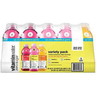 Glaceau Vitaminwater Zero Variety Pack , 20 pk./20 fl. oz.