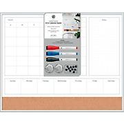 """U Brands 16"""" x 20"""" 4N1 Magnetic Dry Erase Calendar Board - Aluminum"""