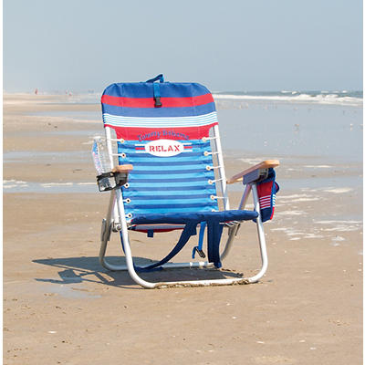 Tommy Bahama Backpack Beach Chair - Blue and Red