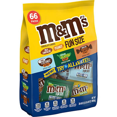 M&M's Flavor Vote Chocolate Candy Fun Size Variety Mix Bag, 38.4 oz.