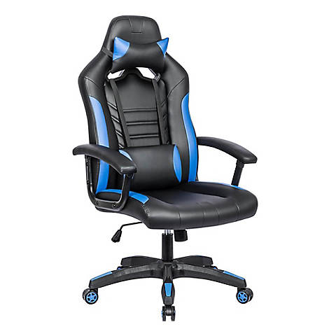 Racing Style Gaming Chair Blue And