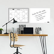 WallPops Monthly Calendar and Message Board, 2 pk. - White