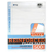 Reinforced College Rule Filler Paper, 500 ct.
