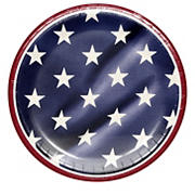 "Artstyle Proudly American 6.75"" Round Dessert Plates, 75 ct."