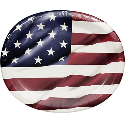 """Artstyle Proudly American 10"""" x 12"""" Performa Oval Plate, 35 ct."""