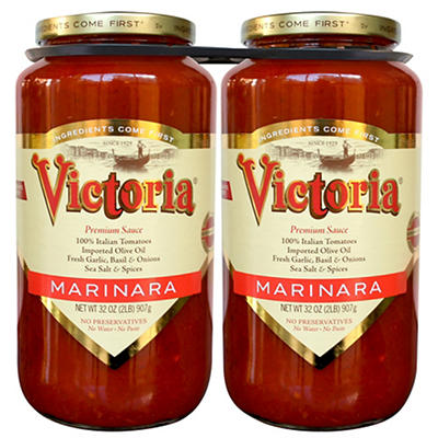 Victoria Marinara Premium Sauce, 2 pk./32 oz.