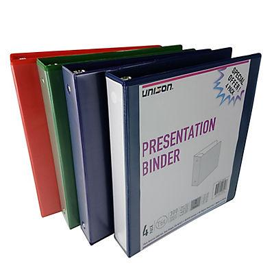 "Unison 1.5"" Presentation Binders - 4 pk."