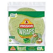 Mission Garden Spinach Herb Wraps, 6 ct.