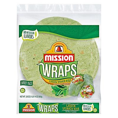 Mission Garden Spinach Herb Wraps, 6 ct.
