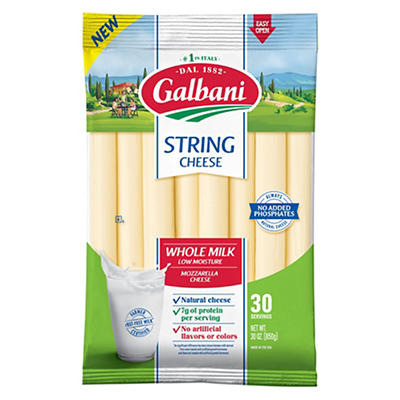 Galbani Whole Milk String Cheese, 30 ct.