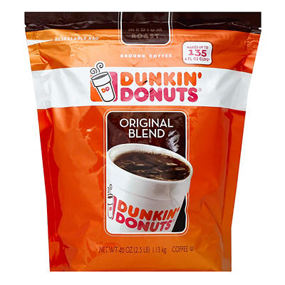 Dunkin' Donuts Ground Coffee with Flip Top, 40 oz.