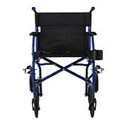 Medline Ultralight Transport Chair - Blue