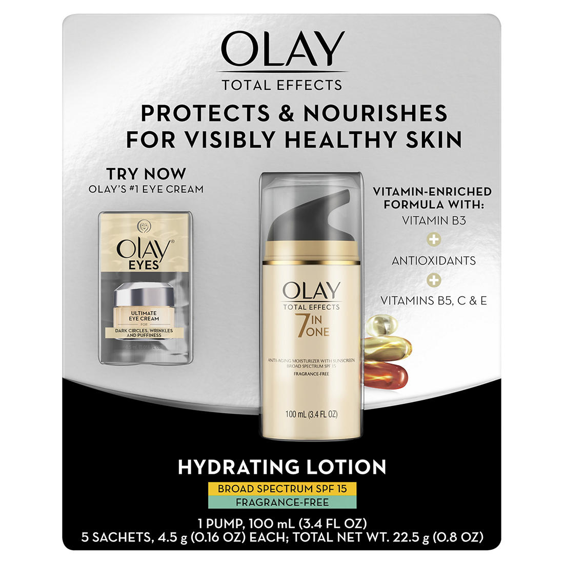 Olay Total Effects Spf 15 Fragrance Free Face Moisturizer 100ml