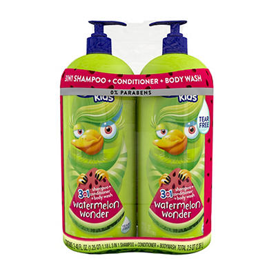 Suave for Kids 3-in-1 Watermelon Wonder, 2 ct.