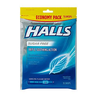 Halls Menthol Sugar-Free Cough Drops, 2 pk./70 ct.