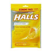 Halls Honey Lemon Sugar-Free Cough Drops, 2 pk./70 ct.