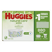 Huggies Natural Care Fragrance-Free Baby Wipes, 880 ct.