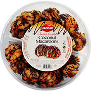 Haddar Chocolate Drizzled Coconut Macaroons, 32 oz.
