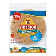 Mission Carb Balance Soft Taco Whole Wheat Tortilla Wraps, 8 ct.