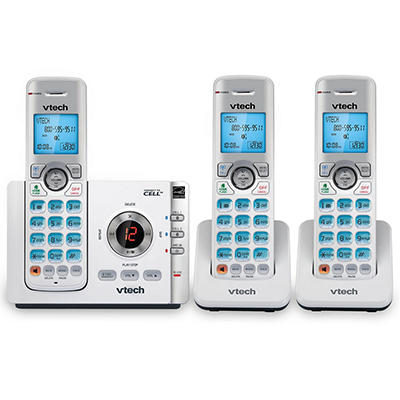 Vtech 3 DECT 6.0 3-Handset Connect to Cell Answering System with Calle
