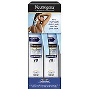 Neutrogena Ultra Sheer Body Mist Sunscreen SPF 70 Spray, 2 pk./ 5 oz.
