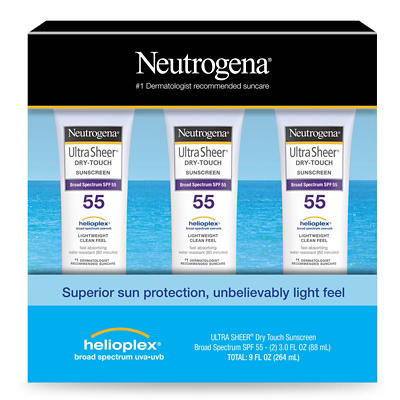 Neutrogena Ultra Sheer Dry-Touch Water Resistant SPF 55 Sunscreen Loti