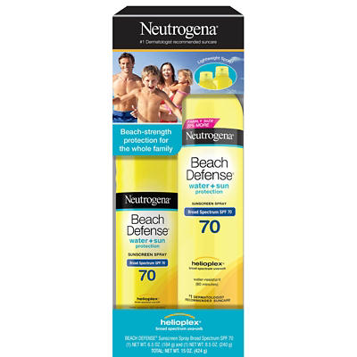 Neutrogena Beach Defense Sunscreen SPF 70 Spray, 6.5 oz. & 8.5 oz.