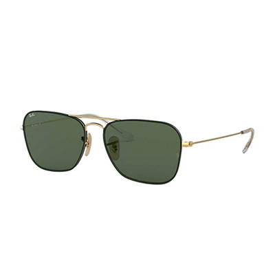 Ray-Ban Rb3603 Sunglasses - Gold Metal Frames and Green Classic Lenses