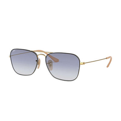 Ray-Ban Rb3603 Sunglasses - Gold Metal Frames and Light Blue Gradient