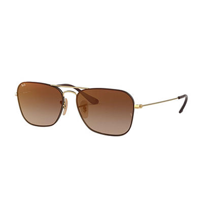 Ray-Ban Rb3603 Sunglasses - Gold Metal Frames and Brown Gradient Mirro