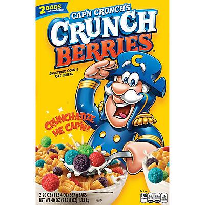 Cap'n Crunch's Crunch Berries Sweetened Corn & Oat Cereal, 2 pk./20 oz