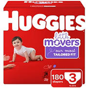 Huggies Little Movers Diapers, Size 3, 180 ct.