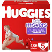 Huggies Little Movers Diapers, Size 5, 136 ct.