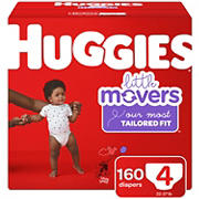 Huggies Little Movers Diapers, Size 4, 160 ct.
