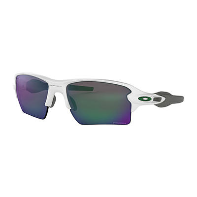 Oakley Flak 2.0 Xl Team Colors Sunglasses with Polished White Frames a