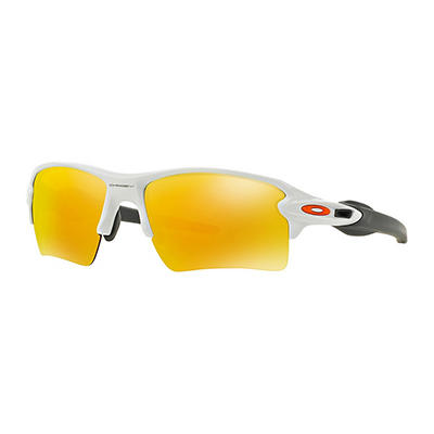 Oakley Flak 2.0 Xl Sunglasses with Polished White Frames and Fire Irid
