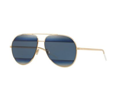 28032219d2ac3 Dior Split 1 Sunglasses With Gold Frame and Blue Lenses - BJs ...
