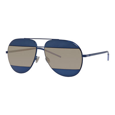 Dior Split 1 Sunglasses with Blue Frame and Blue and Gray Lenses