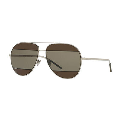 Dior Split 2 Sunglasses with Gunmetal Frame and Brown Lenses