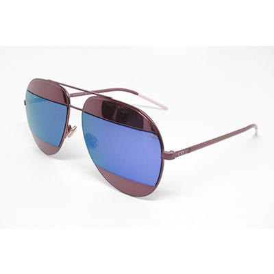 Dior Split 1 Sunglasses with Burgundy Frame and Burgundy and Blue Lens