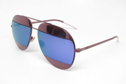 46ab6f3400336 Dior Split 1 Sunglasses with Burgundy Frame and Burgundy and Blue ...