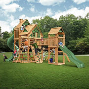 Gorilla Playsets Parkview Wooden Cedar Treehouse Swing Set
