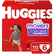 Huggies Little Movers Diapers, Size 6, 112 ct.