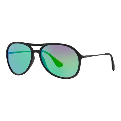 cf3fddda263fb Ray-Ban Alex Sunglasses - Matte Black Frames and Green Mirror Lenses ...