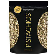 Wonderful Pistachios Roasted and Lightly Salted In-Shell Pistachios in Resealable Pouch, 48 oz.