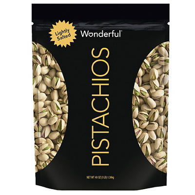 Wonderful Pistachios Roasted and Lightly Salted In-Shell Pistachios in