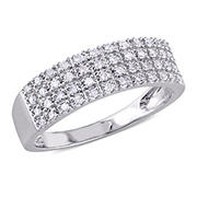 1/4 ct. t.w. Diamond Pave Anniversary Band in Sterling Silver, Size 8
