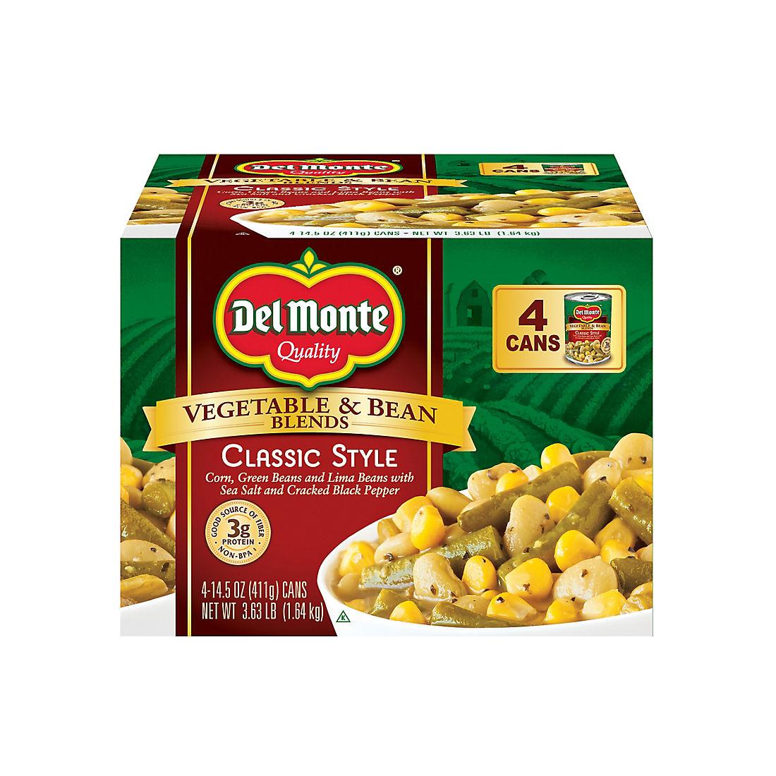 Del Monte Vegetable & Bean Blends, 4 pk