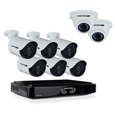 Night Owl 8 Channel Camera 1080p Wired Security System With 1TB HDD