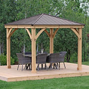 Yardistry Meridian 10' x 10' Gazebo - Coffee Brown